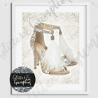 Fashion Art Feathther designer Heels beautiful damask beauty room print print