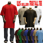 Big and Tall TEE Men Heavy Weight Plain S/S T-shirts Crew Neck Solid TALL 8OZ 2