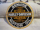 Harley Daivdson 5 Gallons Motor Oil Porcelain Sign Ande Rooney 11 1/4""