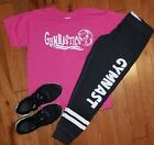 gymnastics Thermal Joggers with shirt, workout clothes, athletic gear,gym shirt