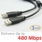 High Speed USB 2.0 A Male M to Male Double Male Data Transfer Charger Cable Cord