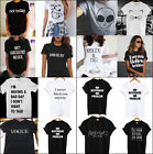 Fashion Women Girl Tops Funny Tee shirts Short sleeve Cotton Men's t-shirt Gift