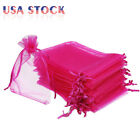 100/200 Organza Wedding Party Favor Gift Bags Candy Sheer Bag Jewelry Pouches