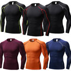 Men's Compression Running Tops Slim fit Base Layer Long Sleeve Tights Sportswear