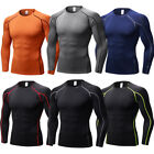 Men's Compression Wear Athletic T-shirts Long Sleeve Base Layers Tight Quick-dry