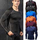 Men's Compression Tops Athletic Workout Long Sleeve Skin Base Layers Slim fit