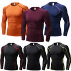 Men's Compression Running Tops Under Base Layer Long Sleeve T Shirts Dri-fit Gym
