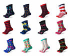 Men's Colorful & Fun High Quality Combed Cotton Casual & Dress Socks by SOKKS