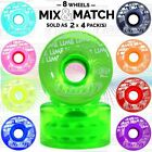 Crazy Wheel CANDY Outdoor Speed Quad Derby Fitness Skate Wheels GREEN Mix&Match