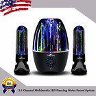 Wireless Bluetooth 2:1 Channel Multimedia LED Dancing Water Sound System USA LOT