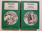 Amelia by Henry Fielding, Everyman's Library, 2 Volumes, #852 & #853, 1962