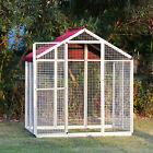 Aluminum Large Bird Cage For Parrot Cockatiel Macare Walk with Two Covers