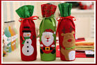 UK stock red snowman Xmas wine bottle wrap cover Xmas party house decoration