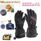 W/ Smart Switch Electric Heated Hands Warmer Gloves 5600mAh Rechargeable Battery