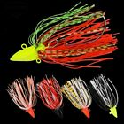 5pcs Fishing Spoon Lure 5g/7g/10g/14g Fishing Tackle with Feather Metal BassBait
