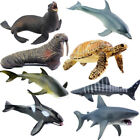 8 Styles Ocean Animals Figure Sea Model Toys Dolphin Turtle Whale Kids Gifts