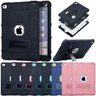 Hybrid Heavy Duty Rubber Hard Stand Cover Case For Apple iPad 9.7 2017 5th Gen