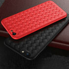 Slim Weave Silicone Soft TPU Cover Case For iPhone XS Max XR X 7 8 6S PLUS 5S