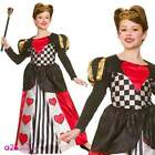 Girls Deluxe Queen of Hearts Fancy Dress Fairy Tale Book Day Kids Child Costume