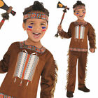 Kids Native American Costume Boys Historical Fancy Dress Boys 4-10 Years Amscan