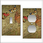 Vintage Butterflies Pattern - Light Switch / Outlet Cover All Styles D0004