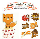 woodland animals birthday party Cupcake Toppers cup cake
