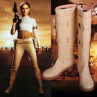 Padme Queen Amidala Boots Star Wars Tan Beige Cosplay Costume Shoes $48.99 USD