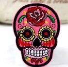 Embroidered Applique Iron On Patches Skull Transfer Fabric Badge Bag Clothes Hat