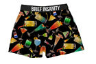 Mens Boxers Shorts Funny Underwear Martini Bar Cocktail Party Soft Silky Gift