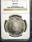 1879 S Morgan Sliver Dollar $1 NGC MS66+