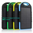 5000 mah Dual-USB Waterproof Solar Power Bank Battery Charger for Chamber Phone SOS