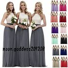 Stock Chiffon Lace Bridesmaid Dresses Wedding Evening Party Prom Ball Gowns6-18