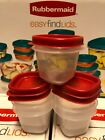 0.5 /1.25 /2 /3/5/7 cups Rubbermaid BPA-FREE Plastic Food Storage Containers Set
