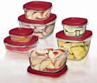 Rubbermaid BPA-FREE Plastic Food Storage Containers w/Lid Set 0.5/1.25/2/5/7cups