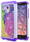 For Alcatel OneTouch Fierce XL Case NageBee® Hybrid Bling Rubber Phone Cover