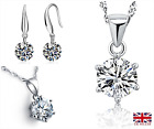 UK Classic Crystal Sterling Silver Jewellery Set
