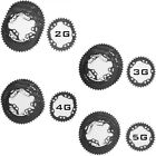 DOVAL ONE-PIECE Chainring 2G, 3G, 4G, 5G NANO Type BCD110 For Shimano/Sram/etc..