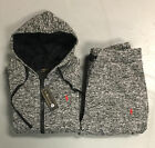 Ralph Lauren Polo Sweat Suit for Women Stone Gray Top & Bottom Brand New w/ Tags