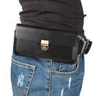 For BLU Phone Universal Belt Clip Holster Leather Flip Pouch Case Cover
