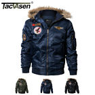 mens parka bomber jacket - TACVASEN Mens Bomber Jacket Fleece Lining Winter Coats Parkas MA-1 Pilot Jackets
