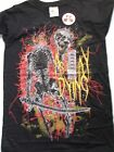 AS I LAY DYING New w/ TagsT SHIRT Concert Tour Rock Metal Metalcore X SMALL