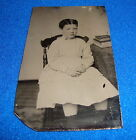 Vintage Tintype Photograph Small Child Seated in Chair
