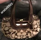 COACH Handbag With Triple Compartment Snap  in Brown leather