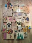 Lot Of Rubber Stamps 47 Total, Christmas, Heats, Balloons, Animal