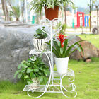4Tier Pot Metal Plant Planter Stand Home Patio Garden Outdoor Black White  Brown