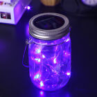 Jar Lid Lights Solar Powered Led Fairy Light Practical Plastic Iron Gifts