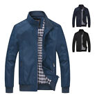 Fashion Men's Stand Collar Jackets Tops Coat Windbreaker Outerwear Casual Jacket