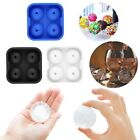 New Round Ice Balls Maker Tray Four Sphere Molds Cube Whiskey Cocktails BF