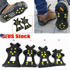 Winter Ice Snow Anti Slip Spikes Grips Grippers Crampon Cleats Fr Shoes Boots US