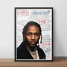 Kendrick Lamar INSPIRED WALL ART Print / Poster A4 A3 / HIP HOP Lyrics / Rapper